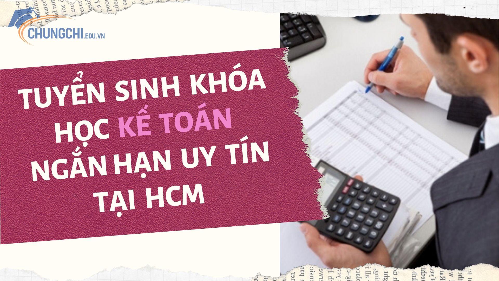 học kế toán tại hcm