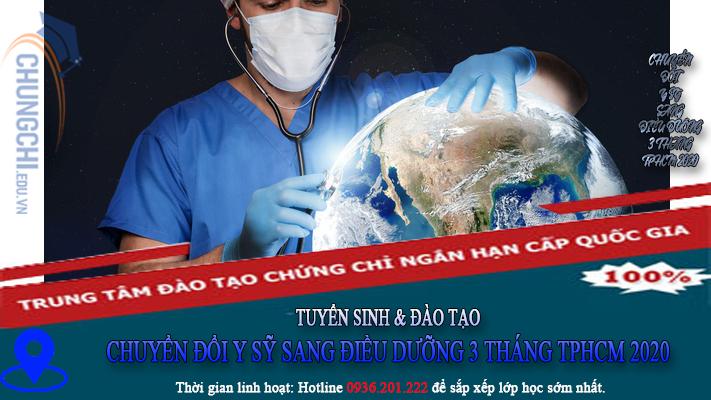 CHUYỂN ĐỔI Y SỸ SANG ĐIỀU DƯỠNG 3 THÁNG TPHCM 2020